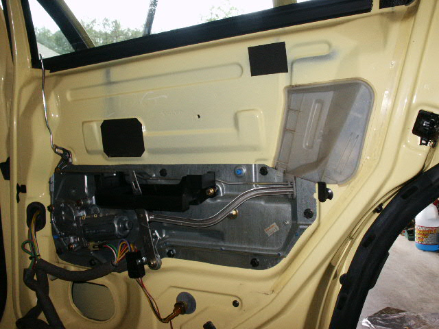 When the panel is pulled away from the door remove the two access covers. & Rear Window Removal - Volvo 850 Pezcame.Com